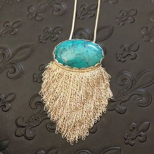 Silpada Turquoise and Sterling Statement Necklace